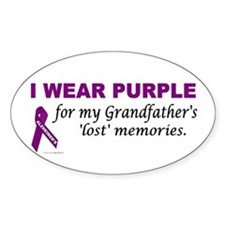My Grandfather's Lost Memories Oval Decal