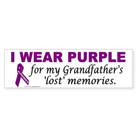 My Grandfather's Lost Memories Bumper Sticker