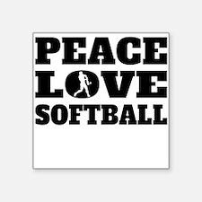 Peace Love Softball Sticker