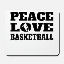 Peace Love Basketball Mousepad