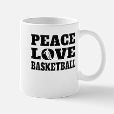 Peace Love Basketball Mugs