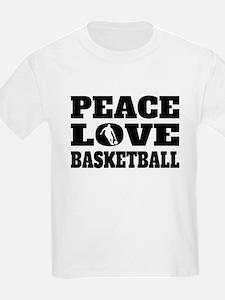 Peace Love Basketball T-Shirt