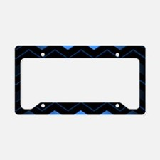 Black and Blue Chevron License Plate Holder
