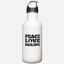 Peace Love Sailing (Distressed) Water Bottle