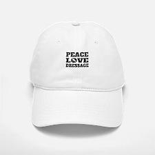 Peace Love Dressage (Distressed) Baseball Baseball Baseball Cap