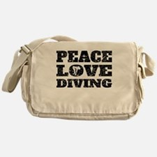 Peace Love Diving (Distressed) Messenger Bag
