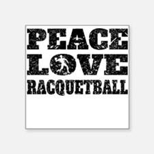 Peace Love Racquetball (Distressed) Sticker