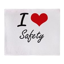 I Love Safety Throw Blanket
