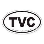 Transylvania County NC TVC Euro Oval Sticker