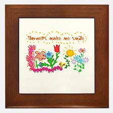 Flowers Make Me Smile Framed Tile