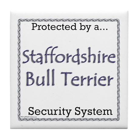 Staffy Security Tile Coaster