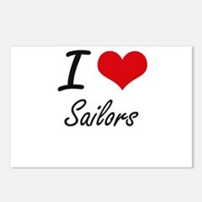 I Love Sailors Postcards (Package of 8)