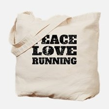 Peace Love Running (Distressed) Tote Bag