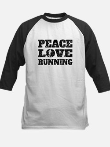 Peace Love Running (Distressed) Baseball Jersey