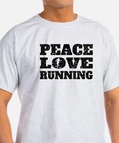 Peace Love Running (Distressed) T-Shirt