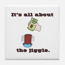 The Jiggle (Canned Cranberry Sauce) Tile Coaster