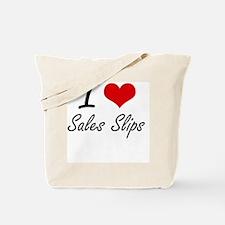 I Love Sales Slips Tote Bag