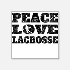 Peace Love Lacrosse (Distressed) Sticker
