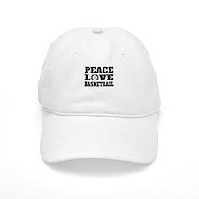 Peace Love Basketball (Distressed) Baseball Baseball Cap