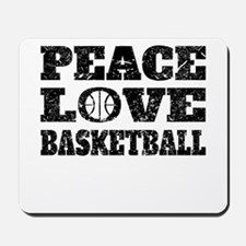Peace Love Basketball (Distressed) Mousepad