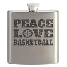 Peace Love Basketball (Distressed) Flask