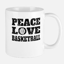 Peace Love Basketball (Distressed) Mugs