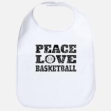Peace Love Basketball (Distressed) Bib