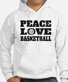 Peace Love Basketball (Distressed) Hoodie