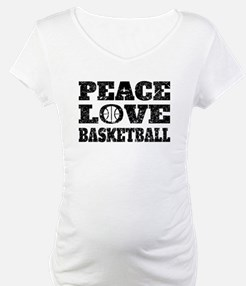 Peace Love Basketball (Distressed) Shirt