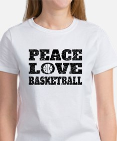Peace Love Basketball (Distressed) T-Shirt