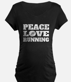 Peace Love Running (Distressed) Maternity T-Shirt