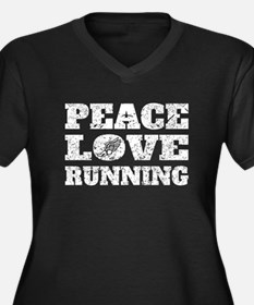 Peace Love Running (Distressed) Plus Size T-Shirt