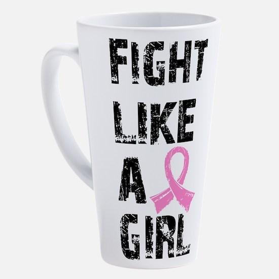 Unique Peace love breast cancer ribbon 17 oz Latte Mug