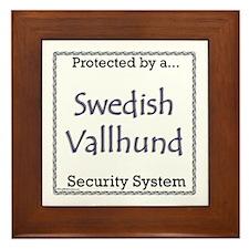 Vallhund Security Framed Tile