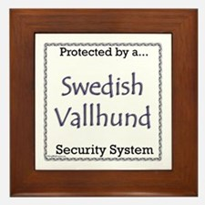 Vallhund Security Framed Tile