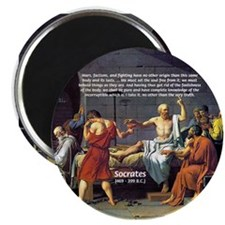 """Death of Socrates 2.25"""" Magnet (100 pack)"""
