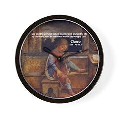 Cicero: God Nature Wall Clock