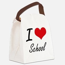 I Love School Canvas Lunch Bag