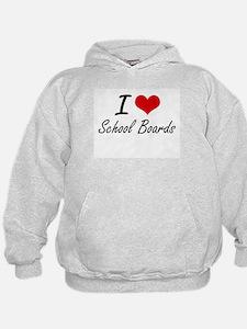 I Love School Boards Hoodie