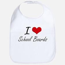 I Love School Boards Bib