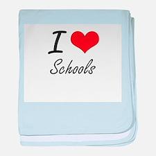 I Love Schools baby blanket