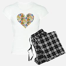 Flower-Heart Pajamas