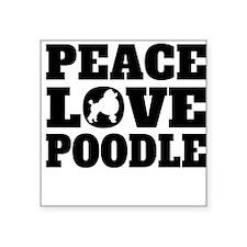 Peace Love Poodle Sticker