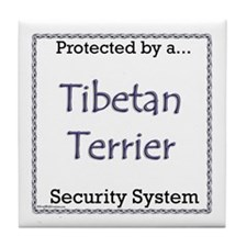 Tibetan Terrier Security Tile Coaster