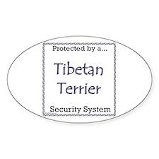 Tibetan Terrier Security Oval Decal