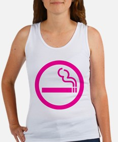 Ladies Smoking Area Japanese Sign Tank Top