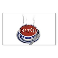 Alphabet Soup Bitch Rectangle Decal
