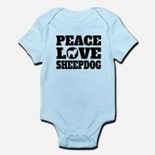 Peace Love Sheepdog Body Suit