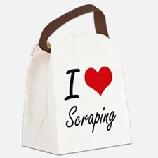 I Love Scraping Canvas Lunch Bag