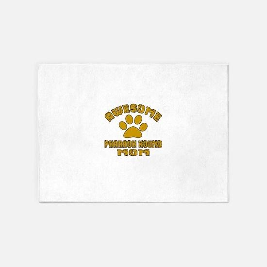 Awesome Pharaoh Hound Mom Dog Desig 5'x7'Area Rug
